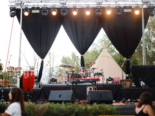Primera edición Tipis Cerdanya escenario música